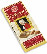 Reber Mozart Fine Almond Chocolate Bar, 100g/3.5oz. (5 Pack)