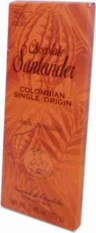 Santander 70% Dark Chocolate, Colombian Single Origin, 70g/2.46oz (5 Pack)