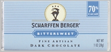 "Scharffen Berger Gourmet Chocolate - ""Bittersweet Dark Chocolate Bar"" 70% Cocoa"