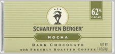 "Scharffen Berger Gourmet Chocolate - ""Dark Chocolate Mocha Bar with Freshly Roasted Coffee"" 62% Cocoa"