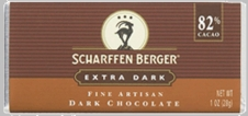 "Scharffen Berger Gourmet Chocolate - ""Extra Dark Chocolate Bar"" 82% Cocoa"
