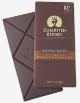 "Scharffen Berger Gourmet Chocolate - ""Extra Dark Chocolate Bar"" 82% Cocoa, 85g/3.0oz. (5 Pack)"