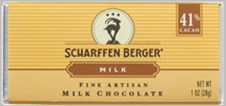 "Scharffen Berger Gourmet Chocolate - ""Extra Rich Milk Chocolate Bar"" 41% Cocoa"