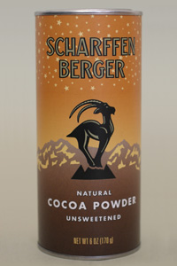 Scharffen Berger Gourmet Chocolate - Natural Cocoa Powder Unsweetened, 170g/6.0oz.(Single)