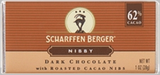 "Scharffen Berger Gourmet Chocolate - ""Nibby Bar"" Cocoa bean pieces in 62% cocoa chocolate"