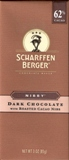 """Scharffen Berger Gourmet Chocolate - """"Nibby"""", Dark Chocolate with Roasted Cocoa Nibs, 62% Cocoa, 85gr/3.0oz. (Single)"""