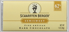 "Scharffen Berger Gourmet Chocolate - ""Semisweet Dark Chocolate Bar"" 62% Cocoa"