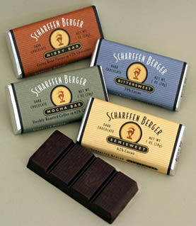 "Scharffen Berger Gourmet Chocolate - ""Semisweet Dark Chocolate Bar"" 62% Cocoa, 28g/1.0oz. (Single)"