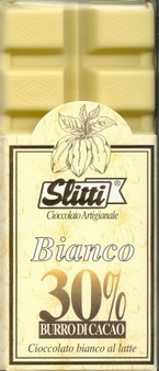 "Slitti Italian Chocolate - ""Bianco"" White Chocolate with 30% Cocoa, 100g/3.5oz. (5 Pack)"
