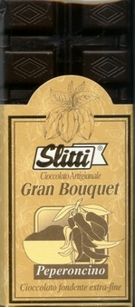 "Slitti Italian Chocolate - ""Gran Bouquet"" Extra Bitter Dark Chocolate & Chilli Pepper 73% Cocoa, 100g/3.5oz. (5 Pack)"