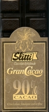 "Slitti Italian Chocolate - ""Gran Cacao"" Dark Chocolate 90% Cocoa, 100g/3.5oz. (5 Pack)."
