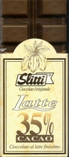 "Slitti Italian Chocolate - ""Latte"" Extra - Fine Milk Chocolate 35% Cocoa, 100g/3.5oz (Single)."