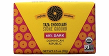 Taza 60% Stone Ground Dark Chocolate Bar, Organic, 85g/3oz (5 Pack)