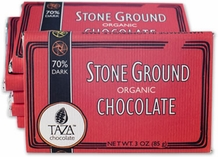 Taza 80% Stone Ground Dark Chocolate Bar, Organic, 85g/3oz (10 Pack)