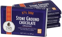Taza 87% Stone Ground Dark Chocolate Bar, Organic, 85g/3oz (Single)