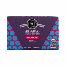 Taza 87% Stone Ground Dark Chocolate Bar, Organic, (10 Pack)