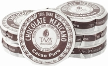 Taza Cacao Puro 70% Dark Chocolate Mexicano, Organic, 77g/2.7oz (12 Pack)