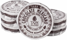 Taza Salted Almond 40% Dark Chocolate Mexicano, Organic, 77g/2.7oz (Single)