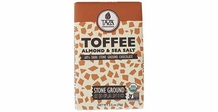 TAZA TOFFEE SEA SALT & ALMOND 60% COCOA 2.5OZ (Pack of 5)