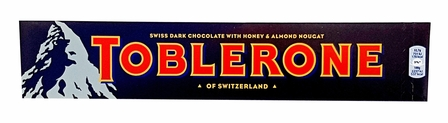 TOBLERONE DARK WITH HONEY & NOUGAT 3.52OZ/100G (SINGLE)