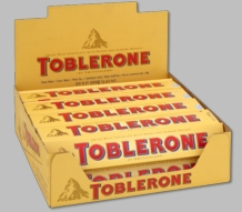 TOBLERONE MILK & HONEY NOUGAT 3.52OZ/100G (Pack of 20)