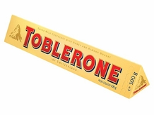 Toblerone Milk & Honey Nougat, 3.52oz/100g (Single)