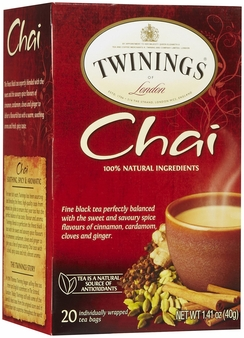 Twinings-Chai Tea 20 ct box, 1.41oz/40g (Single)