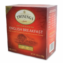 Twinings- English Breakfast Tea 50 ct box, 3.53oz/100g (Single)