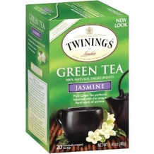 Twinings-Green Jasmine Tea 20 ct box, 1.41oz/40g (6 Pack)