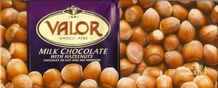 "Valor ""Chocolat Au Lait Avec Des Noisettes"" Milk Chocolate with Hazelnuts, 250g/8.75oz. (Single)"