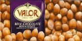 "Valor ""Chocolat Au Lait Avec Des Noisettes"" Milk Chocolate with Hazelnuts, 250g/8.75oz.  (5 Pack)"