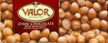 "Valor ""Chocolat Pur Aux Noisettes"" Dark Chocolate with Hazelnuts, 250g/8.75oz.  (5 Pack)"