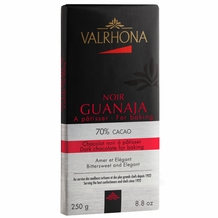 "Valrhona Chocolate - ""Guanaja Baking Bar"" 70%Cocoa, 250g/8.8oz. (6 Pack)"