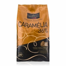 "Valrhona Chocolate - ""Les Feves"" ""Milk Chocolate Caramelia"" 34% Cocoa, 3kg/6.6lb."