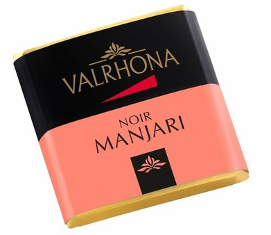 Valrhona French Chocolate - Bulk Squares Manajari 64% Cocoa, 200ct/bx(Single)