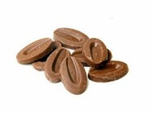 """Valrhona French Chocolate - """"Les Feves"""" Andoa Lactee 39% Cocoa, 6oz Feves Repackaged"""