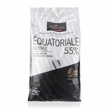 "Valrhona French Chocolate - ""Les Feves"" Equatoriale 55 % Cocoa, 3kg/6.6lbs."
