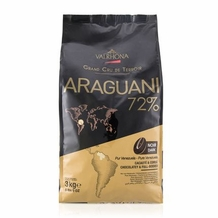 "Valrhona French Chocolate - ""Les Feves"" Grand Cru Araguani 72% Cocoa, 3kg/6.6lbs."