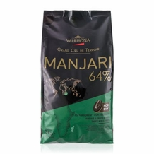 "Valrhona French Chocolate - ""Les Feves"" Grand Cru Manjari 64 % Cocoa, 3kg/6.6lbs."