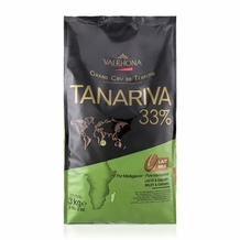 "Valrhona French Chocolate - ""Les Feves"" Grand Cru Tanariva Lact�e Milk Chocolate 33 % Cocoa, 3kg/6.6lbs."