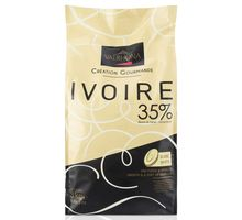 "Valrhona French Chocolate - ""Les Feves"" Ivoire White Chocolate 35% Cocoa, 3kg/6.6lbs."