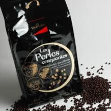 "Valrhona French Chocolate - ""Les Perles Craquantes"" Crunchy Cereal Pearls Coated in Dark Chocolate, 55% Cocoa, 3kg./6.6lb."