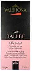 Valrhona French Chocolate - Milk Chocolate Lait Bahibe 46% Cocoa Bar, 70g/2.46oz.