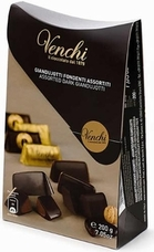 "Venchi Chocolate ""Assorted Dark Giandujotti"" - Extra Dark & Extra Milk Chocolate with Hazelnut Paste - 200g/7.05oz (Single)"