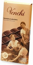 "Venchi Chocolate - ""Cioccolato al Latte Extra"" Extra Milk Chocolate Bar, 45g/1.58oz. (5 Pack)"