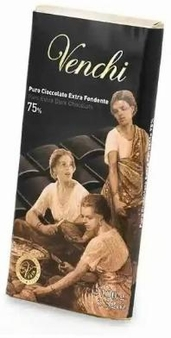 "Venchi Italian Chocolate - ""Cuor di Cacao"" Bittersweet Bar, 75% Cocoa, 100g/3.5oz(16 Pack)."