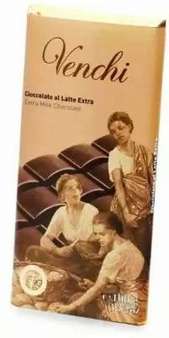 "Venchi Italian Chocolate - ""Latte Superiore"" Milk Chocolate Bar, 31.5 % Cocoa, 100g/3.5oz(16 Pack)"