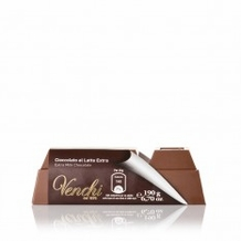 Venchi Italian Chocolate - Pure Milk Chocolate Block, 33% Cocoa, 190g/6.7oz. (Single)