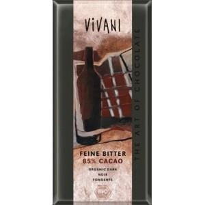 Vivani Organic Chocolate - 100% Organic Dark Chocolate with 85% Cocoa, 100g/3.5oz. (Single)