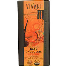 "Vivani Organic Chocolate - 100% Organic Dark Chocolate with ""Orange Flavor"", 70% Cocoa, 100g/3.5oz.  (Single)"